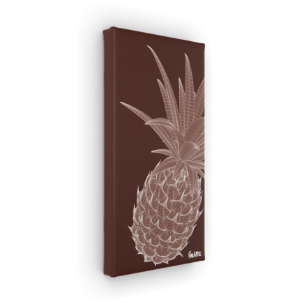 Art on Leinwand  Ananas 40cmx20cm