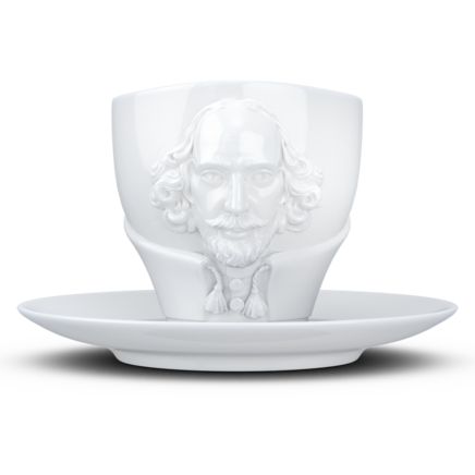 "TALENT Tasse ""William Shakespeare"" in weiß, 260 ml"